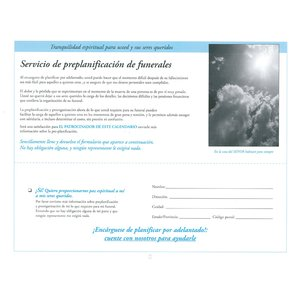 God's Gift Calendar - Funeral Planning - Spanish Image 1 of 2