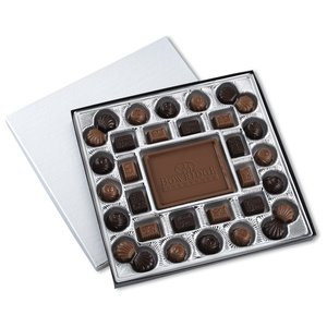 Chocolate Bites - 1 lb. - Silver Box Image 1 of 2