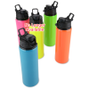 View Extra Image 1 of 2 of h2go Surge Aluminum Sport Bottle - 28 oz. Neon - 24 hr