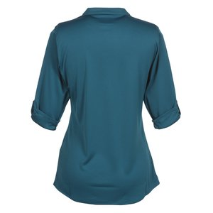 OGIO Poly Interlock Stay-Cool Henley - Ladies' Image 1 of 1