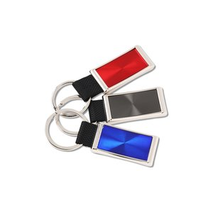 Rectangular Sunburst Key Tag