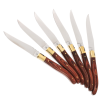 View Extra Image 1 of 3 of Laguiole 6-Piece Knife Set - 24 hr