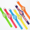 Colorful Silicone Strap Watch