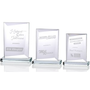 Prestige Starfire Glass Award - 9""