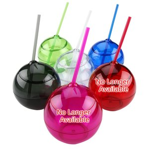 Fiesta Ball Tumbler with Straw - 22 oz.