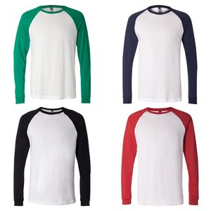 Canvas Long Sleeve Raglan Baseball T-Shirt Image 2 of 3
