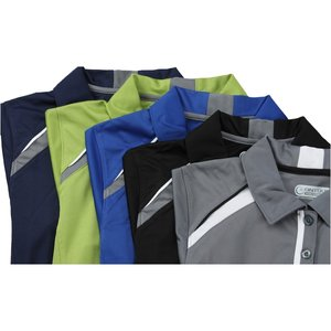Quinn Colorblock Textured Polo - Ladies' - TE Transfer Image 1 of 1