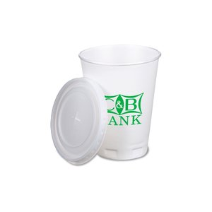 Trophy Hot/Cold Cups w/Straw Slotted Lid - 12 oz.