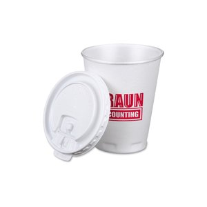Trophy Hot/Cold Cup with Tear Tab Lid - 10 oz. - Low Qty Image 1 of 1
