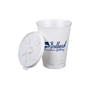 Trophy Hot/Cold Cup with Tear Tab Lid - 12 oz. - Low Qty Image 1 of 1
