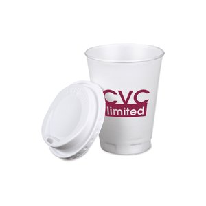 Trophy Hot/Cold Cups w/Traveler Lid - 12 oz. Image 1 of 1