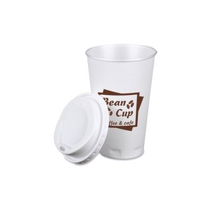 Trophy Hot/Cold Cups w/Traveler Lid - 16 oz. Image 1 of 1