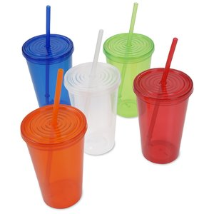 Economy Tumbler with Straw - 20 oz. Image 1 of 2