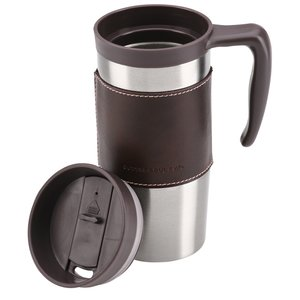 Cutter & Buck Leather Travel Mug - 14 oz. Image 1 of 1
