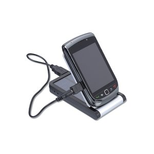 Solar Charger & Desktop Phone Holder - 1300 mAh
