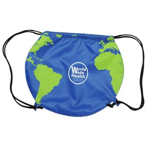 Globe Drawstring Backpack Image 1 of 4