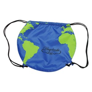 Globe Drawstring Backpack Image 3 of 4
