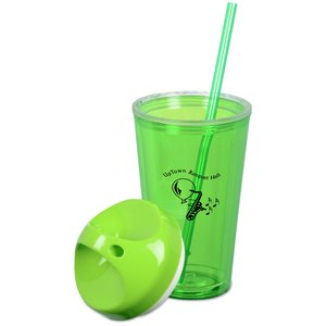 Loop Acrylic Tumbler with Straw - 16 oz. Image 1 of 2