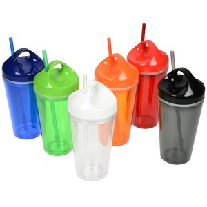 Loop Acrylic Tumbler with Straw - 16 oz. Image 2 of 2
