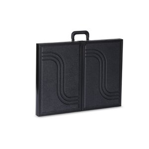 "Briefcase Tabletop Display with Rect. Header - 18"" x 48""- FC"