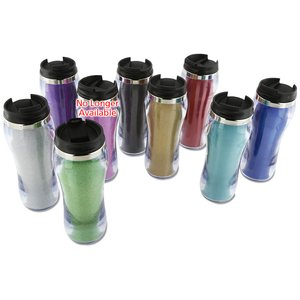 Glitter Travel Tumbler - 14 oz. Image 2 of 2