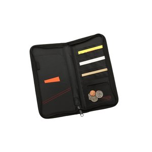 Eclipse Mesh Zippered Travel Wallet - Closeout Image 1 of 1