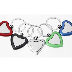 Metal Lighted Key Tag - Heart - Closeout Image 1 of 2