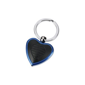 Metal Lighted Key Tag - Heart - Closeout