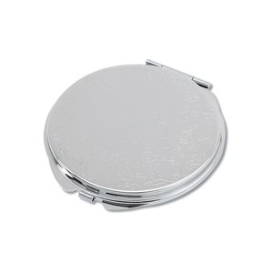 Round Metal Compact Mirror Image 1 of 2