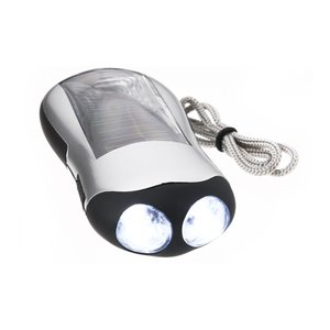 Solar Powered Flashlight 2 LED- Closeout
