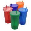 Stadium Cup with Lid & Straw - 32 oz. - Jewel Image 1 of 2