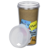 View Extra Image 4 of 4 of ThermalTraveler Tumbler - 16 oz. - Thank You Note
