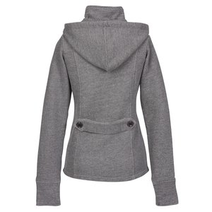 Independent Trading Co. Fleece Pea Coat - Ladies' Image 2 of 2