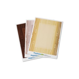 Removable Picture Frame Decal - 4 x 6 - Woodgrain Image 1 of 2