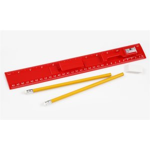 Red Ruler Set - Closeout Image 1 of 1