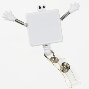 Googly Eye Retractable Badge - Square - Closeout Image 3 of 3
