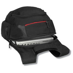 Case Logic Cross-Hatch Laptop Backpack - Embroidered Image 1 of 3