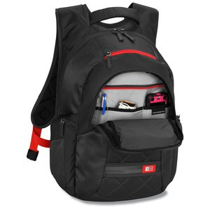 Case Logic Cross-Hatch Laptop Backpack - Emb Image 2 of 3