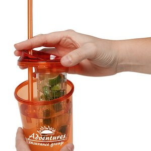 Tutti Frutti Infuser Tumbler with Straw - 20 oz. - 24 hr Image 2 of 3