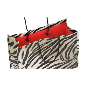 Non-Woven Swanky Shopper - Zebra - Closeout Image 1 of 1