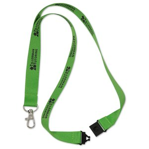 "Lanyard with Metal Lobster Clip - 3/4"" - 24 hr"