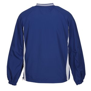 Tipped V-Neck Raglan Sport Windshirt Image 1 of 2