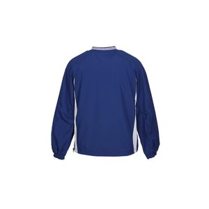 Tipped V-Neck Raglan Sport Windshirt Image 2 of 2