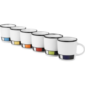 Color Block Ceramic Mug - White - 14 oz. Image 1 of 1