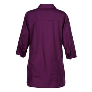 Superblend 3/4 Sleeve Poplin Swing Shirt - Ladies' Image 2 of 2
