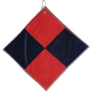 Two-Tone Flag Golf Towel w/Grommet - Closeout Image 1 of 1