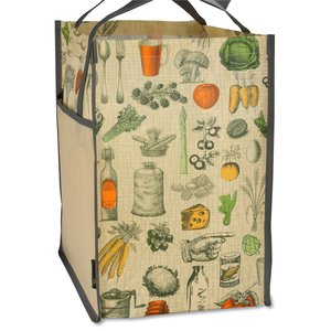 Matte Laminated Vintage Design Grocery Tote Image 1 of 3