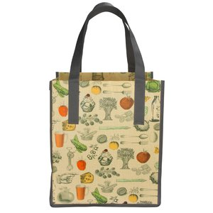 Matte Laminated Vintage Design Grocery Tote Image 2 of 3