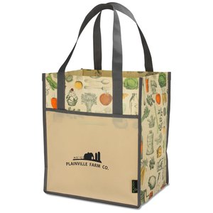 Matte Laminated Vintage Design Grocery Tote Image 3 of 3