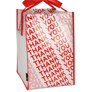 Laminated Thank You Big Grocery Tote - Closeout Image 4 of 4